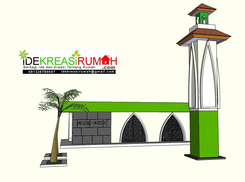 tampak depan renovasi masjid