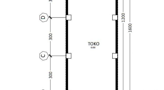 Desain layout Denah Ruko 3 Lantai