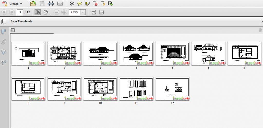 Full Download Gambar Kerja Rumah Melabar