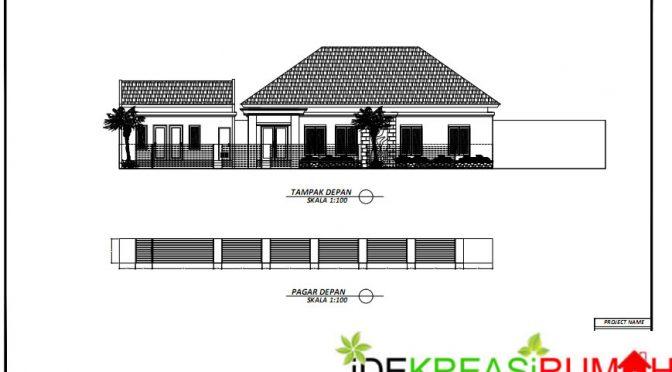 Gambar Kerja Rumah Lahan Melebar 30x15 dengan Kolam Renang