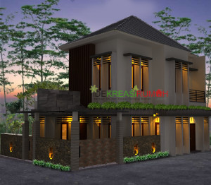 desain fasad rumah minimalis 2 lantai lahan pojok   ide