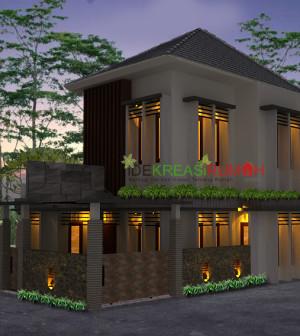 desain fasad rumah minimalis 2 lantai lahan pojok | ide