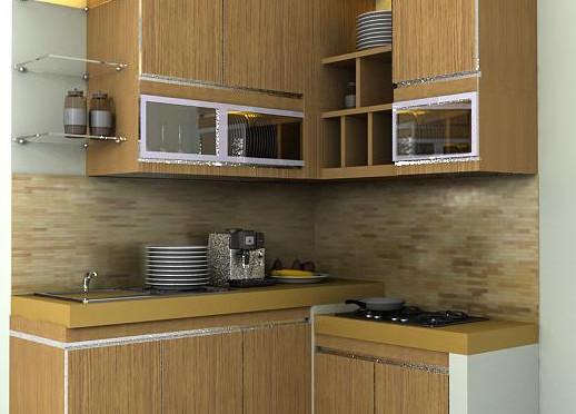 Desain kitchen set modern minimalis untuk dapur kecil for Harga granit kitchen set per meter