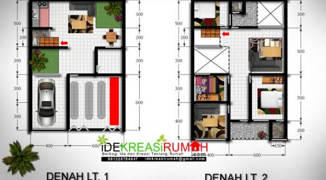Denah Ruko Minimalis 2 Lantai