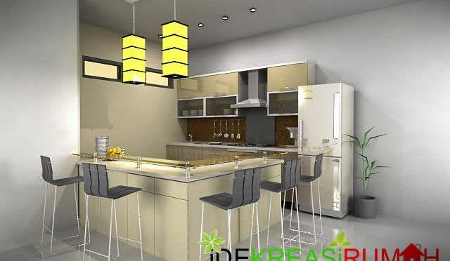 Desain Minibar dan Kitchen Set