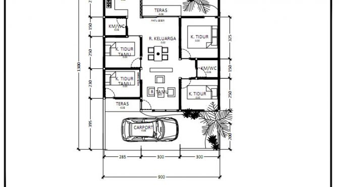 3 Ide Layout Denah Rumah Lahan 9 x 13 meter + Download